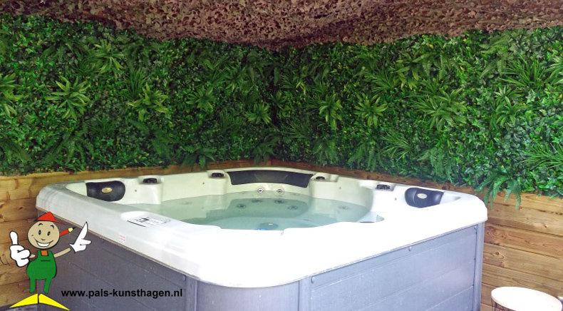 Künstliche Hecke des Dschungels als Badekurortdekoration