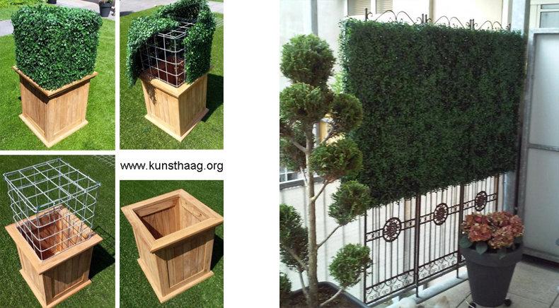 Buxus kunsthaag decoratie