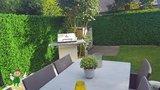 Buxus kunsthaag tuinafsluiting