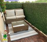Buxus kunsthaag als balkonscherm