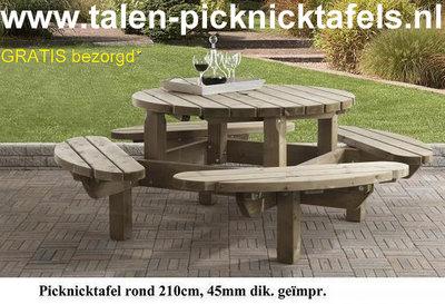 ronde picknicktafel